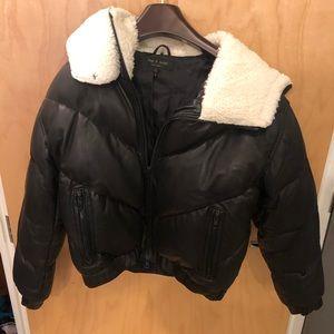 Rag and Bone leather shearling coat
